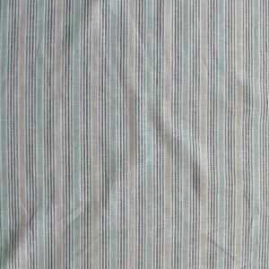 Lady McElroy - Green - Linen/viscose woven stripe.