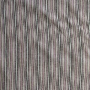 Lady McElroy - Pink - Linen/viscose woven stripe. Bobbins and Buttons