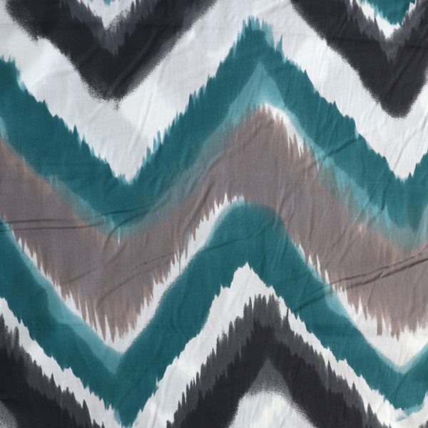 Lady McElroy - Jade zigzag - cotton lawn.