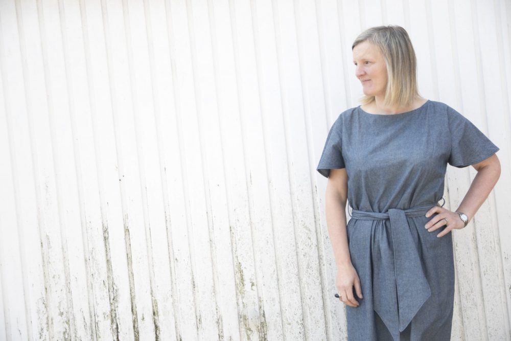 How to make a no pattern dress to fit your size – tutorial.