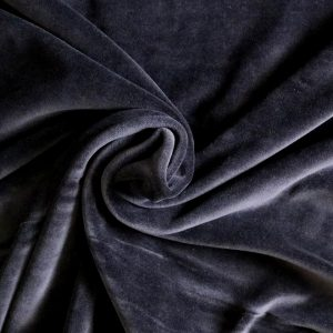 black stretch velvet - bobbins and buttons