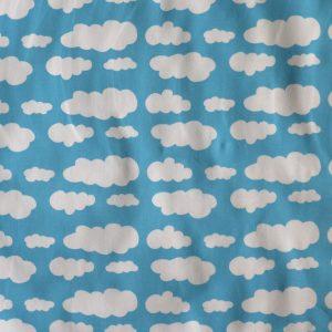 sky blue cloud print jersey - Bobbins and buttons