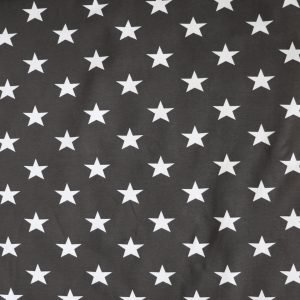 Charcoal and white star print jersey - Bobbins and Buttons