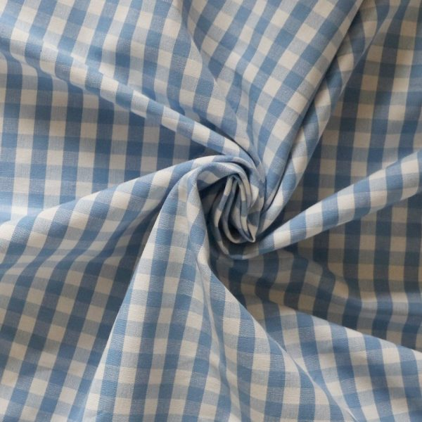 blue gingham Bobbins and buttons