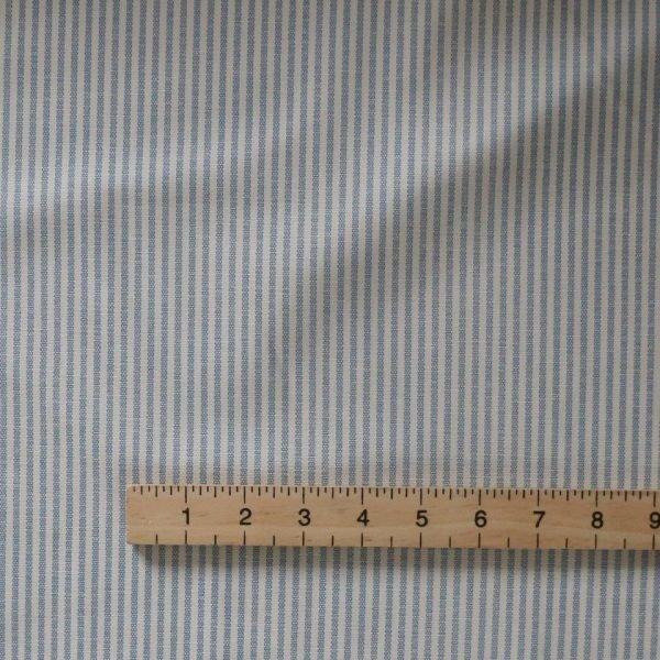 Blue stripe canvas bobbins and Button