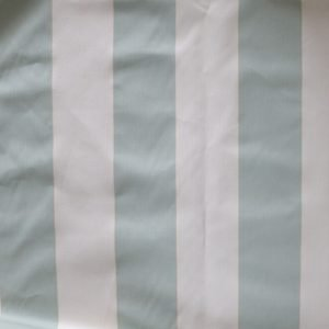 mint stripe canvas bobbins and Buttons