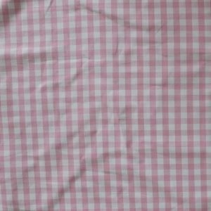 pink check Bobbins and buttons