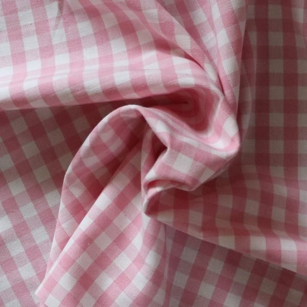Cotton canvas - pink - woven gingham.