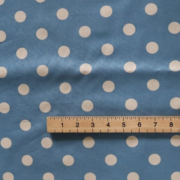BLUE SPOT COTTON CANVAS - bOBBINS AND BUTTONS