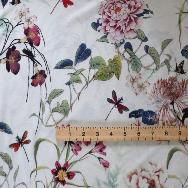 floral jersey Bobbins and button