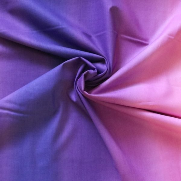 purple ombre cotton fabric - bobbins and buttons