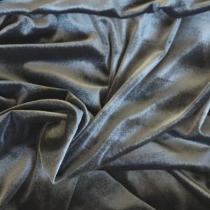 lightweight silver stretch velvet - bobbins and buttons