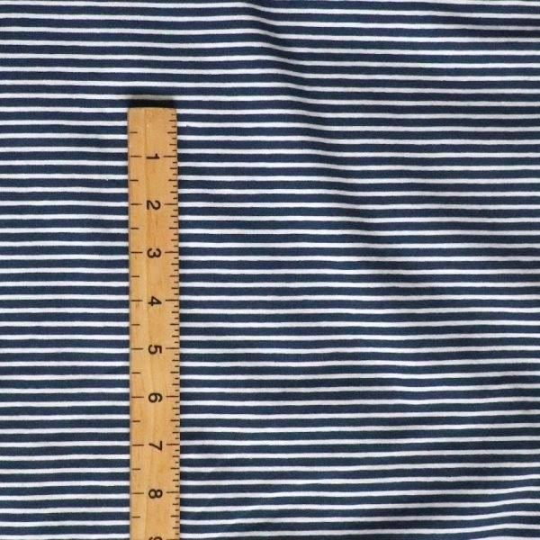 navy and white stripe jersey Bobbins and Buttons