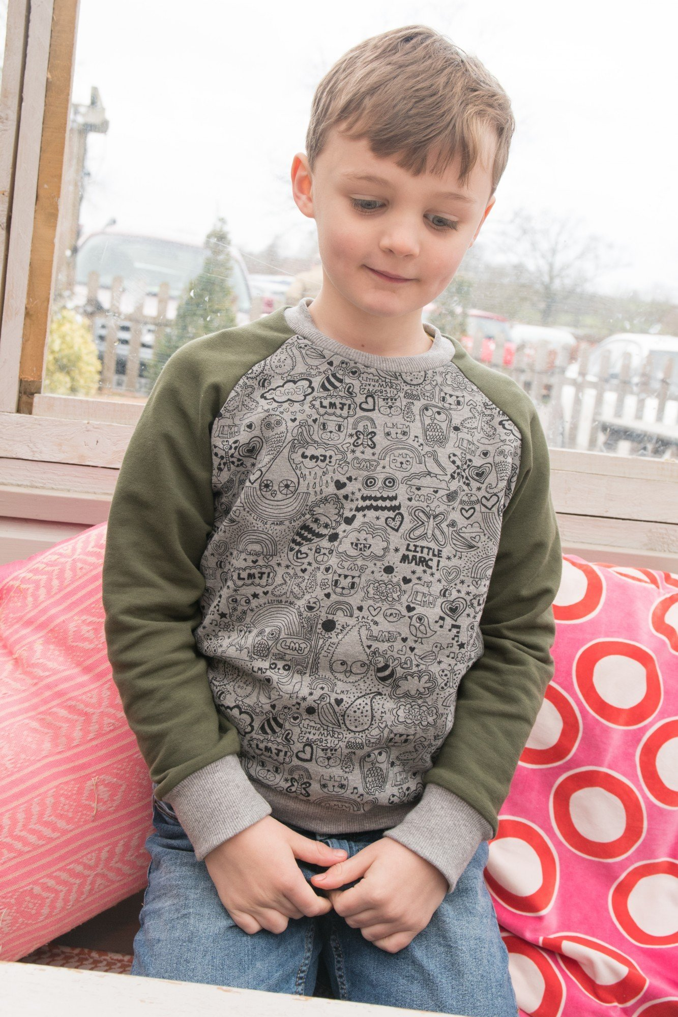 Childrens Classic Set-In Sleeves Sweatshirt Standard Kids Round Neck Sweat TOP