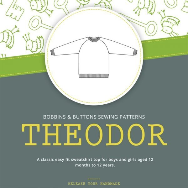 Theodor - kids raglan sleeve sweatshirt pattern