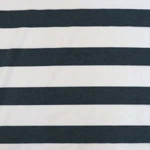 grey marl wide stripe jersey - Bobbins and buttons