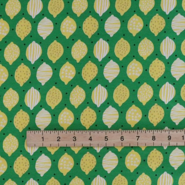 lemon jersey fabric Bobbins and Buttons