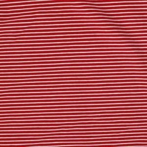 striped jersey red and white. Bobbins and buttons