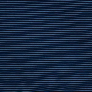 navy and cobalt blue stripe jersey Bobbins and buttons