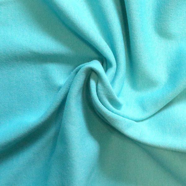 Aqua- 240gsm cotton/elastane jersey ribbing fabric. bobbins and Buttons