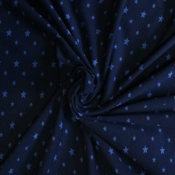 blue star jersey fabric Bobbins and Buttons