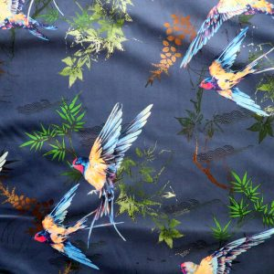 swallows sateen from Bobbins and buttons
