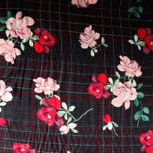 check floral viscose from Bobbins and Buttons