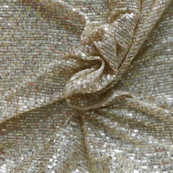 gold sequin fabric from bobbins and buttons