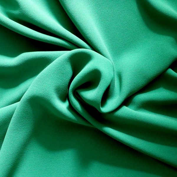 Triple crepe - Polyester - Emerald. Bobbins and Buttons