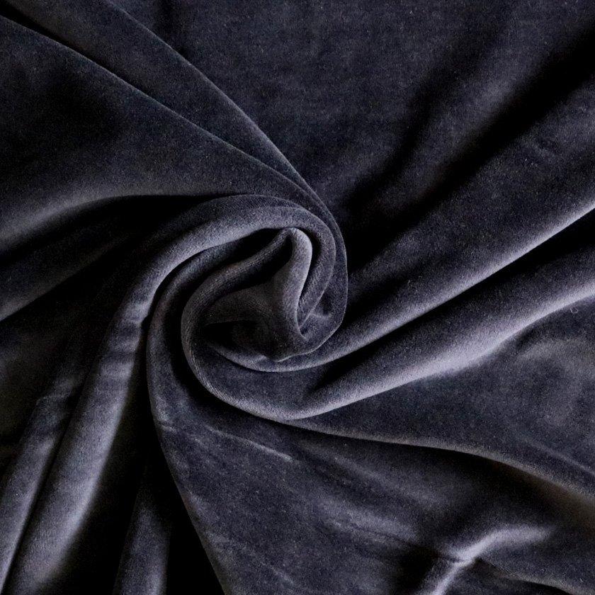 Cream Fabric Stretch velvet fabric