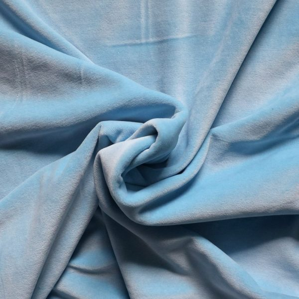 pale blue stretch velvet Bobbins and Buttons