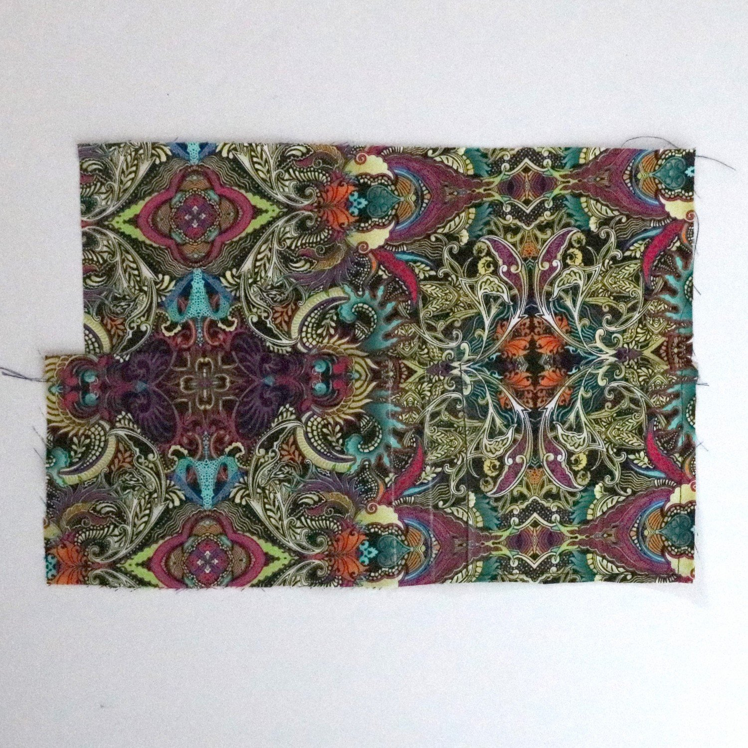 Fabric notebook with pen holder tutorial from Bobbins and Buttons