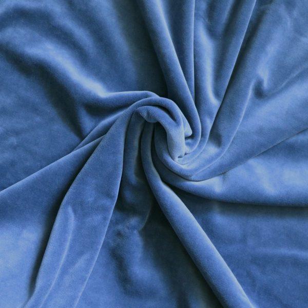 denim blue velvet Bobbins and buttons