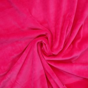 hot pink stretch velvet Bobbins and buttons