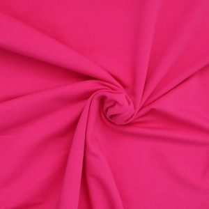 hot pink french terry Bobbins and buttons