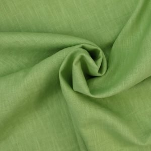 pea green linen from Bobbins and buttons
