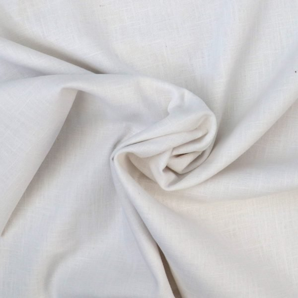 white linen from Bobbins and buttons
