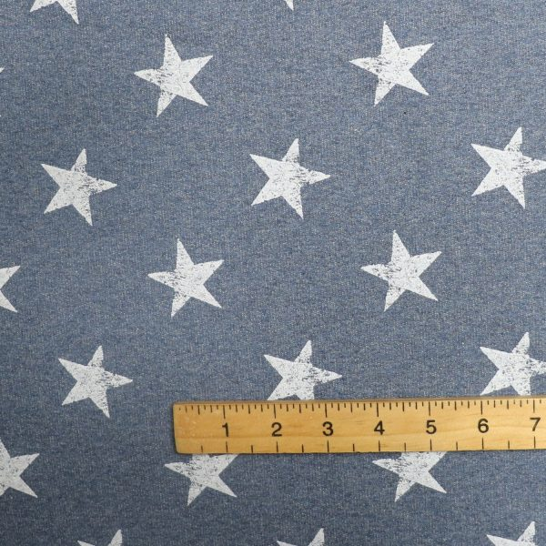 star print french terry Bobbins and buttons