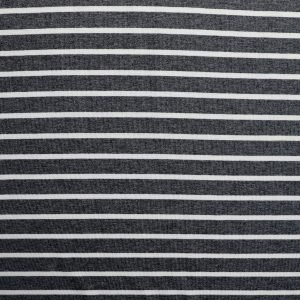grey stripe viscose jersey from Bobbins and buttons
