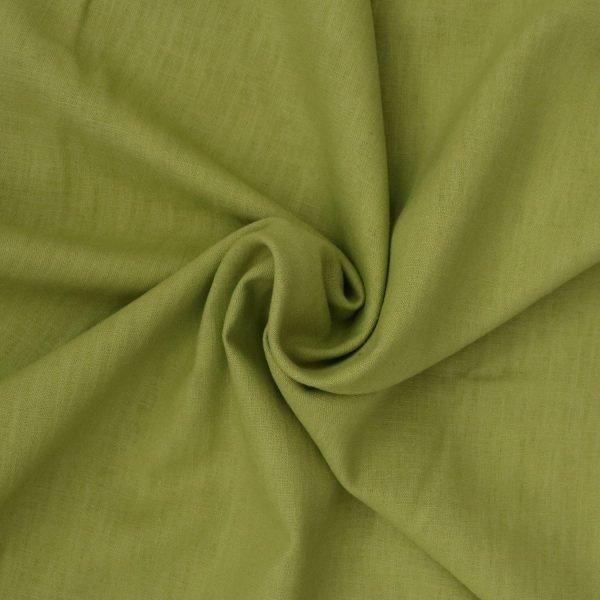 moss green linen from Bobbins and Buttons
