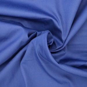 royal blue cotton sateen from Bobbins and buttons