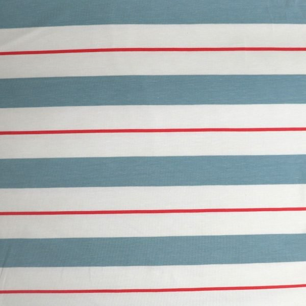 varied stripe fabric from Bobbins and buttons