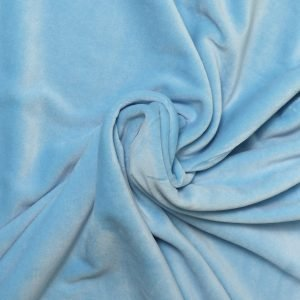pale blue velvet from Bobbins and buttons