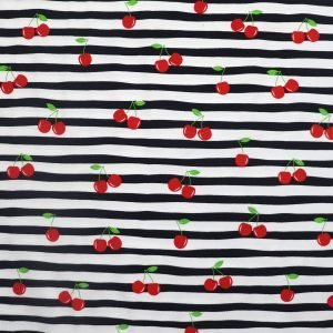 cherries on stripe jersey from Bobbins and buttons