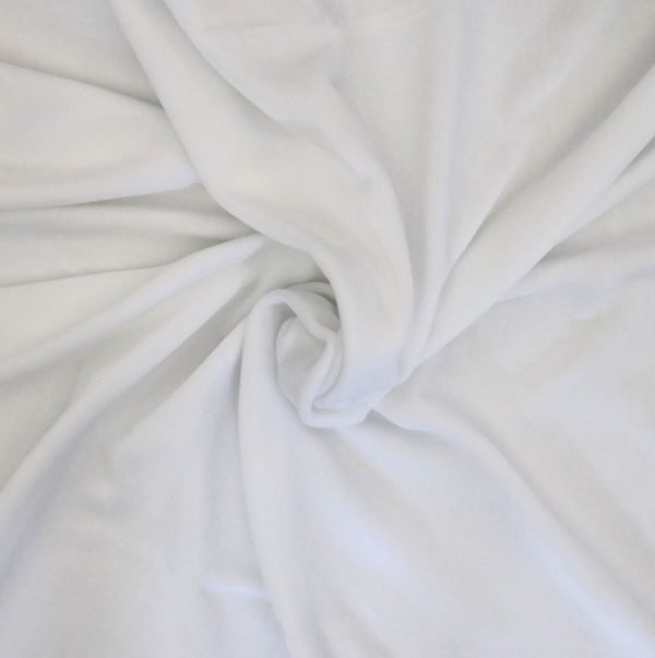 white stretch velvet from Bobbins and buttons