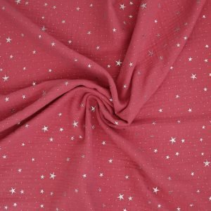 coral rose double gauze from Bobbins and buttons