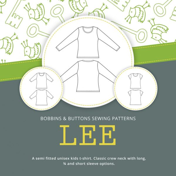 Lee kids t-shirt pattern from Bobbins and buttons