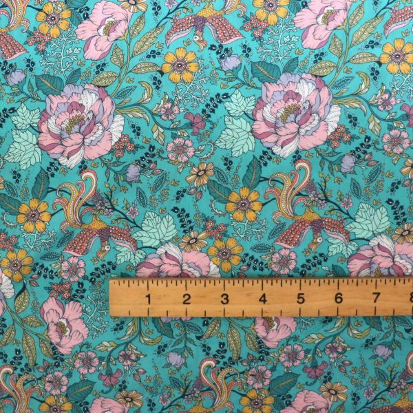 teal dashwood lawn from Bobbins and buttons