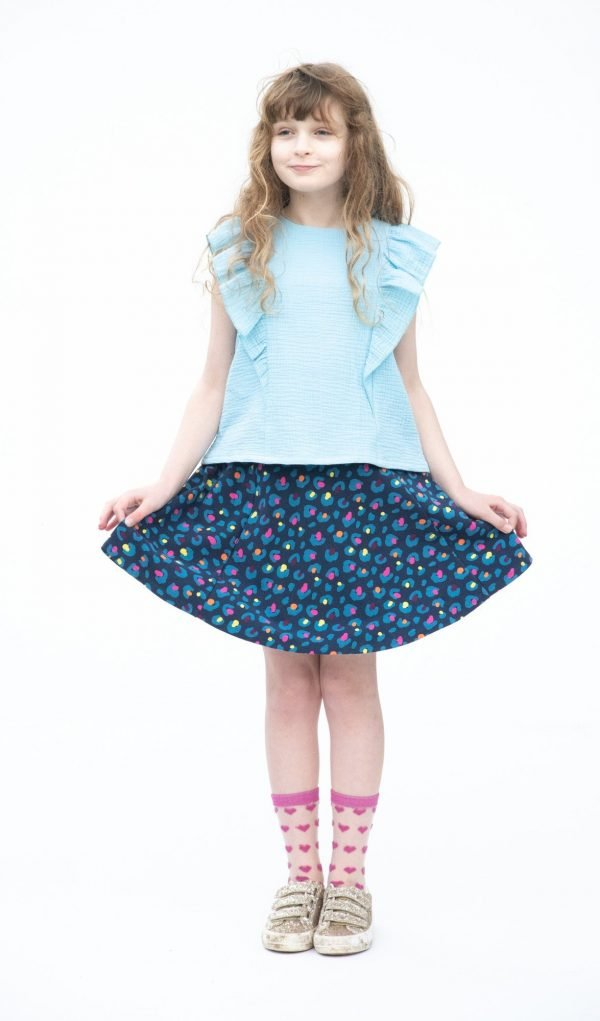 Becky girls skirt sewing pattern from Bobbins and Buttons