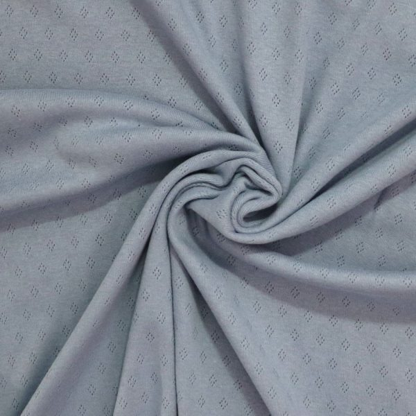 Pointelle jersey fabric from Bobbins and Buttons online shop uk
